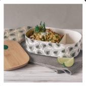 Profitez pour la pause déjeuner d'une jolie lunch box avec son couvercle en bambou. Fabriqué à partir de sucre végétal comme l'amidon de maïs, le manioc ou la sucre de canne❤️#vegetal #lunchbox #metz #metzmetrople #lorraine #  🌼A retrouver sur le e-shop www.lesapsara.fr 🌼livraison par la poste, en relais colis ou en click&collect